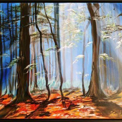 Wald blau